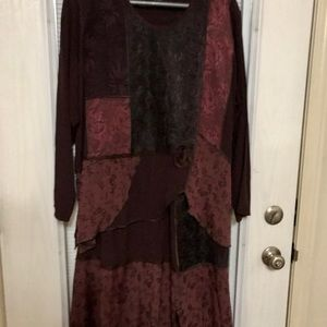 2 piece vintage style skirt and top